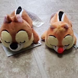 NEW Chip Dale Set Mini Cuddleez Plush Disney